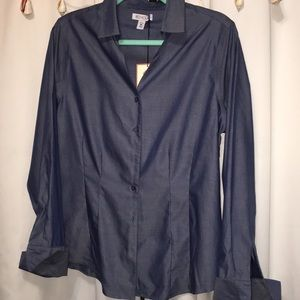 Red House NEW w/Tag Chambray Button Up Long Sleeve